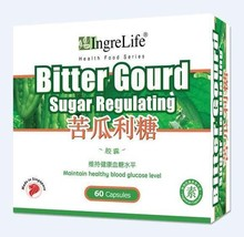 Bittergourd Blood Sugar Regulating 60 Vegetarian Capsules 300mg Glucose ... - $34.65