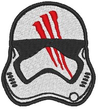 Star Wars Finn Helmet Embroidery Patches Sew Iron On Jeans Jacket Badge ... - $3.39