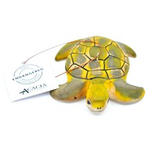 Hand Carved & Painted Jacaranda Wood Sea Turtle Ornament Made in Kenya - €16,24 EUR