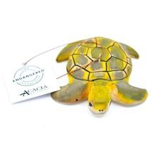 Hand Carved & Painted Jacaranda Wood Sea Turtle Ornament Made in Kenya - £13.68 GBP