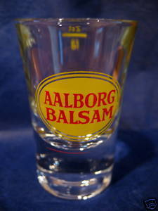 Aalborg Balsam Shot Glass Souvenir Denmark Danish Collectible Collector