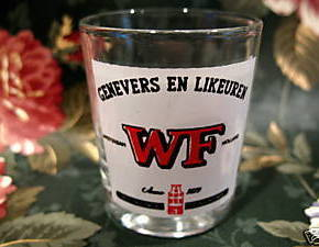 Genevers En Likeuren WF Souvenir Shot Glass Souvenir Vintage Collectible