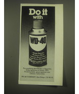1981 WD-40 Oil Ad - Do it with WD-40 - $14.99