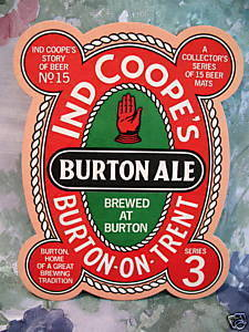 IND COOPES BURTON ALE BEER COASTERS MATS #15 Series 3