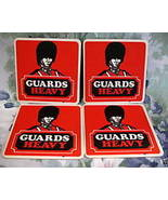 GUARDS HEAVY BEER COASTERS MATS Scotland Souvenir set 4 - $5.99