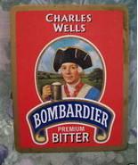 CHARLES WELLS BOMBARDIER BEER COASTER MAT Souvenir - $4.99