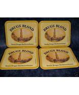 BRUGS BLOND Belgium BEER COASTERS MATS Souvenir set 4 - $5.99