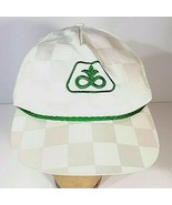 Vintage PIONEER Seeds K Products Snapback Farm Hat White Checkered Cap - $18.95