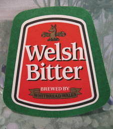 WELSH BITTER WHITBREAD WALES BEER COASTER MAT Souvenir