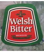 WELSH BITTER WHITBREAD WALES BEER COASTER MAT Souvenir - $4.99