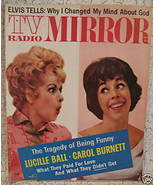 TV Radio Mirror Magazine Movie Star ELVIS PRESLEY LUCILLE BALL CAROL BUR... - $14.95
