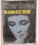 Silver Screen Magazine Movie Stars ELIZABETH TAYLOR GRACE KELLY JOHNNY C... - $14.95