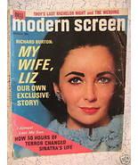 Modern Screen Magazine Movie Stars ELIZABETH TAYLOR BURTON FRANK SINATRA... - $14.95