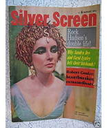 Silver Screen Magazine Movie Stars ELIZABETH TAYLOR ROCK HUDSON ROBERT G... - $14.95