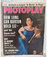 Photoplay Magazine Movie Stars LIZ TAYLOR RICHARD BURTON The BEATLES SAM... - $19.95