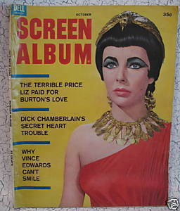 Screen Album Magazine Movie Stars ELIZABETH TAYLOR as CLEOPATRA HESTON etc.