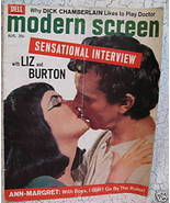 Modern Screen Magazine Movie Stars LIZ TAYLOR RICHARD BURTON ANN MARGRET... - $14.95