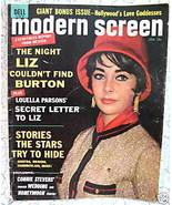 Modern Screen Magazine Movie Stars ELIZABETH TAYLOR RICHARD BURTON BRAND... - $14.95