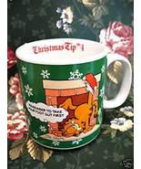 Vintage GARFIELD CHRISTMAS Coffee CUP MUG Enesco Collector Souvenir Cat  - $9.95