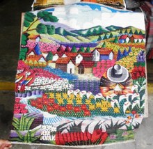 Traditional hand woven rug, Flower field in Cusco - $115.50