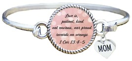 Mother's Day Gift Love is Patient Christian Scripture Cuff Bracelet 1Cor 13:4-5 - $12.88
