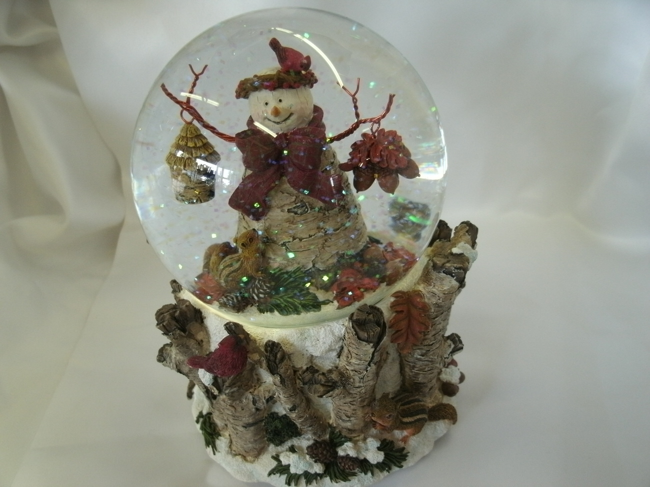 Absolutely Gorgeous! Musical Snowman Snow Globe with Nature Scene