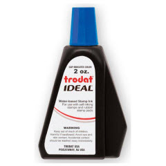Re-Inking fluid for Self-Inking Stamps - Blue