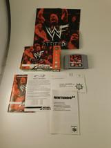 WWF Attitude (Nintendo 64, 1999) Complete w/ Manual & Poster - $17.81