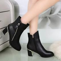 Women Fashion Thick Square Heels Ankle Boots For Women Spring Autumn Winter Sexy