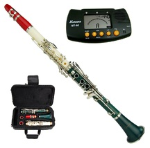 MERANO B FLAT RED-WHITE-GREEN ABS CLARINET WITH CASE + FREE METRO TUNER - $92.50