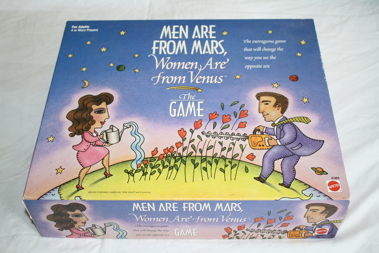 Men Are From Mars Women Are From Venus Board Adult Game 1998 Missing 1 Piece Chi - $24.88