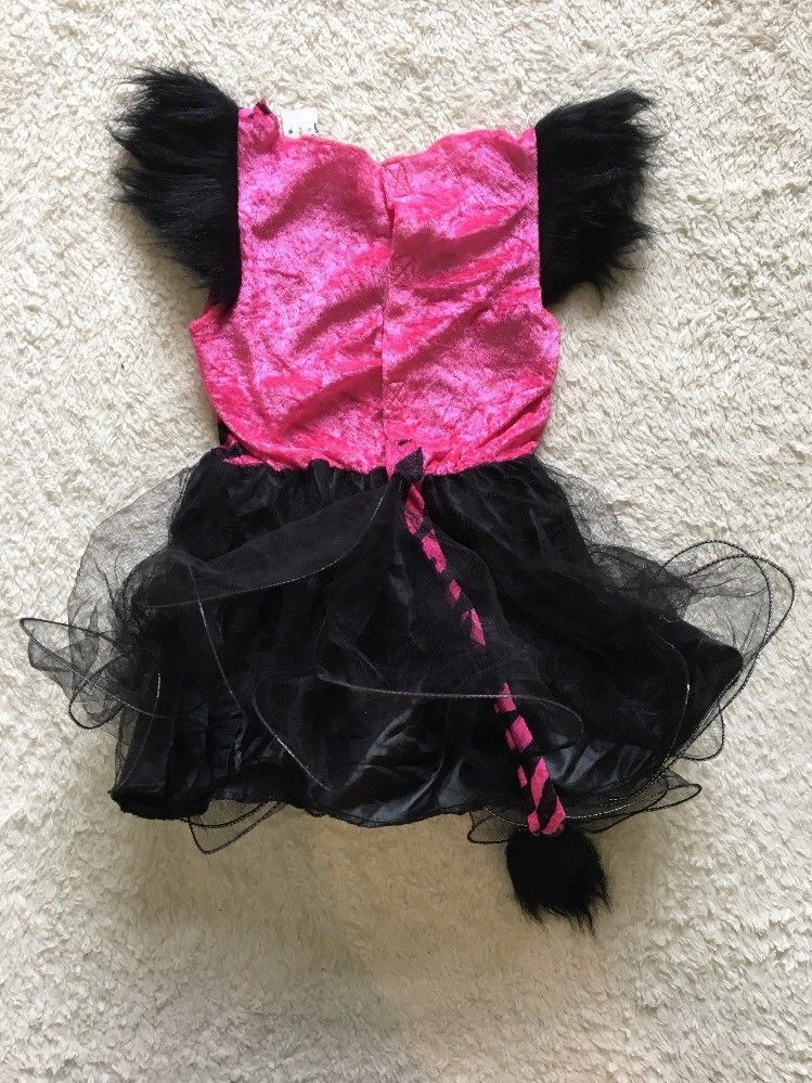 Youth Pink Cheetah Dress Halloween Costume Dress Up Size Small 4-6x DRESS ONLY