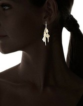 Fragments Multi Charm Lightning Bolt Crystal Gold Plated Drop Dangle Earrings image 2