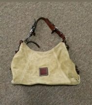 Dooney & Bourke Camel Suede Leather Slouch Shoulder Bag Purse  - $40.00