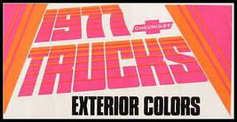 1977 Chevrolet Truck Color Selector Paint Chip Brochure - $14.21