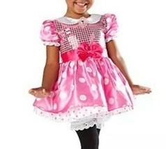 DISNEY STORE Minnie mouse Tutu dress costume pink polka dot sequin Sparkle 18 Mo - $11.29