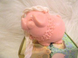 AVON Soap on a Rope Petunia Pig 1973 - $9.69