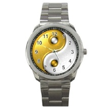 Gold Yin Yang Signl Sport Metal Watch Gift model 26383443 - $14.99