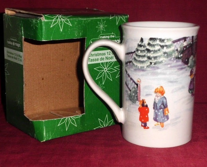 Christams Holiday Magic Xmas Mug Coffee Tea 12 Oz Snowman Making