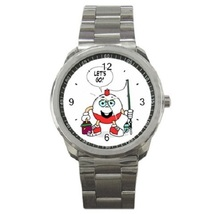 Lets Go Fishing Sport Metal Watch Gift model 17483465 - $14.99