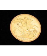 Full Sovereign 1876 Victoria Young Head 22 Carat Gold 8 grams - $443.11