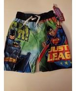 Justice League  Boys  Board Short Swim Trunks Size  4 or  7 NWT  - $11.19