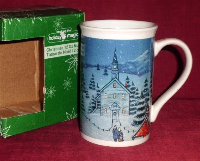 Christams Holiday Magic Xmas Silent Night Coffee Tea 12 Oz Mug