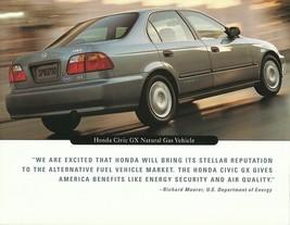 1998 Honda CIVIC GX CNG brochure catalog Natural Gas 98 US - $8.00