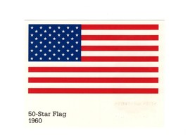Picture POSTCARD-50 Star Flag 1960-STARS & Stripe SERIES- First Day Issue BK9 - $0.97