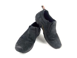 Merrell Men's Loafers Jungle Moc Midnight Black Leather Slipon Shoes Sz 11 - $39.42