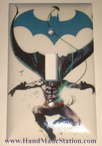 Jumping Batman Comic Light Switch Power Outlet wall Cover Plate Home decor image 2