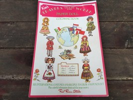 Vintage Kim's Travels Around the World Paper Doll Giant Coloring Book Un... - $14.80