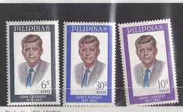 3 Pilipinas Stamps   John F Kennedy, Unused - $2.95