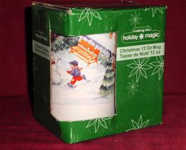 Christams Holiday Magic Xmas Mug Coffee Tea 12 Oz Snowman Making - $15.00